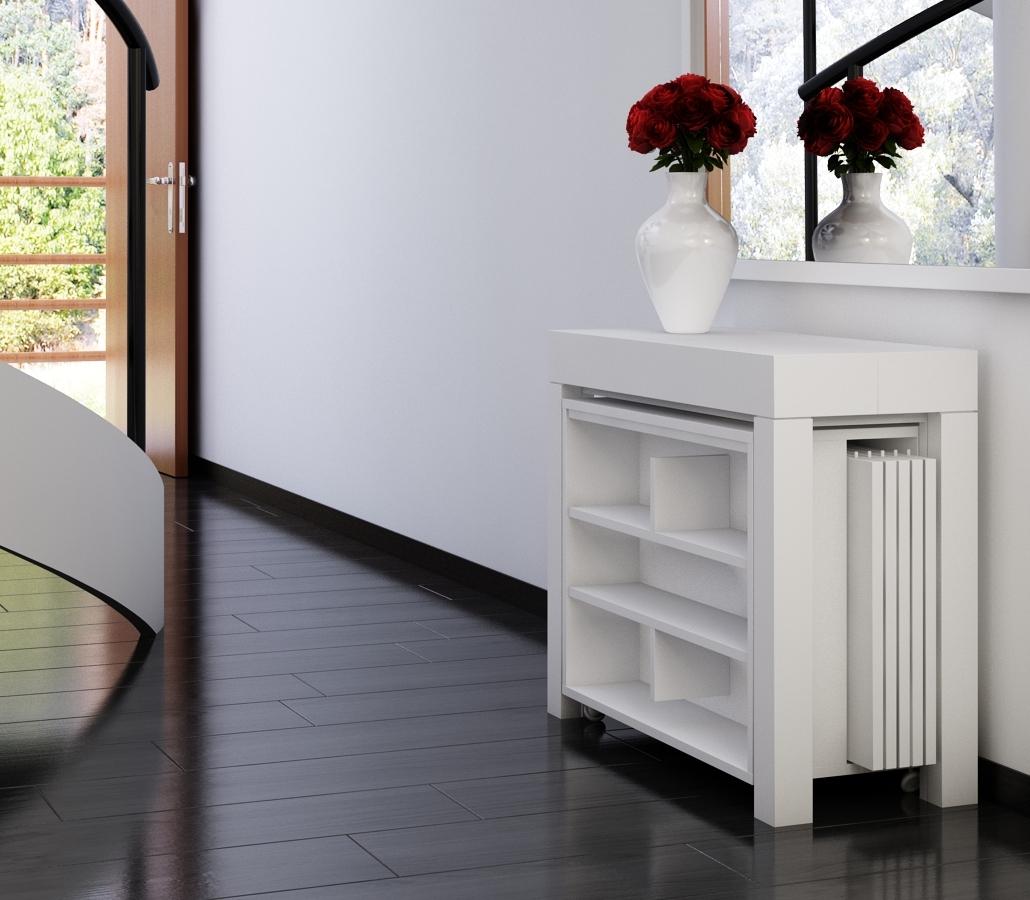 table console extensible avec rallonges intgres cheap console a rallonge table with table. Black Bedroom Furniture Sets. Home Design Ideas